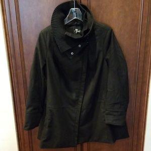 Black Diagonal Alley coat sz 1X pockets winter